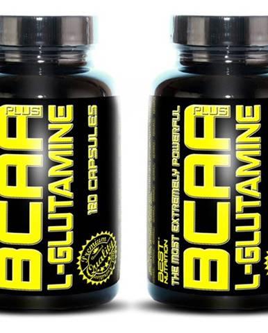 1+1 Zadarmo: BCAA plus L-Glutamine od Best Nutrition 120 kaps. + 120 kaps.