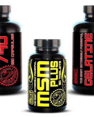 1+1 Zadarmo: Gelatine 740 + MSM od Best Nutrition 250kaps + 250kaps + 120tbl