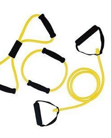 Gumový expandér s úchopy sada 3 ks TUNTURI lehká žlutý