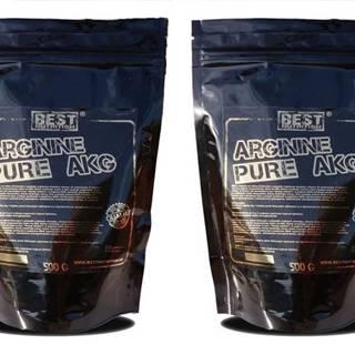 1+1 Zadarmo: Arginine pure AKG od Best Nutrition 250 g + 250 g