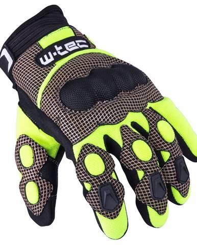 Motokrosové rukavice W-TEC Derex čierno-žltá - S