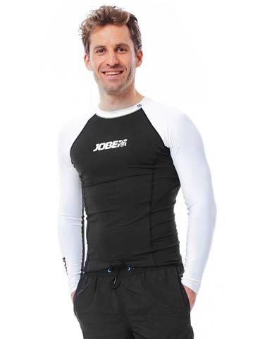Pánske tričko pre vodné športy Jobe Rashguard s dlhým rukávom čierno-biela - S