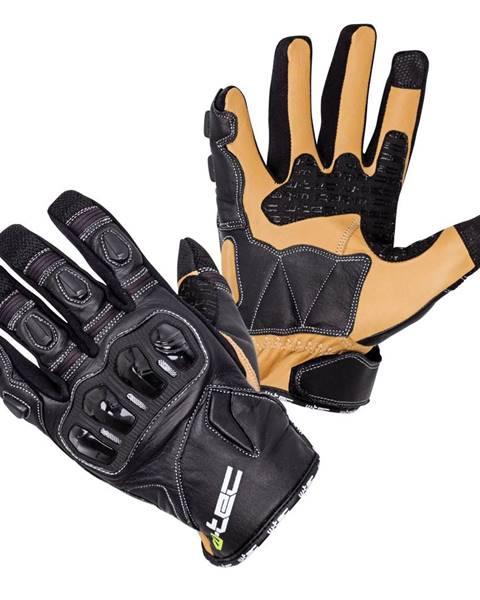 W-Tec Kožené moto rukavice W-TEC Flanker B-6035 čierna - S