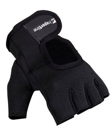 Neoprenové fitness rukavice inSPORTline Aktenvero čierna - S