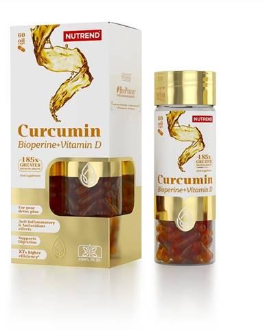 Nutrend Curcumin + Bioperine + Vitamin D, 60 kapsúl