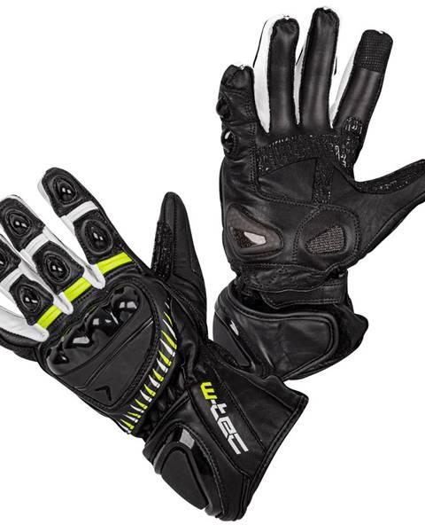 W-Tec Moto rukavice W-TEC Evolation čierno-bielo-fluo - S