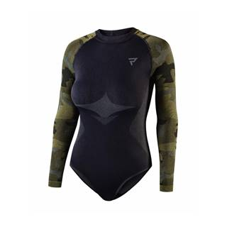 Dámske moto termo tričko/body Rebelhorn Freeze Lady BD čierna-kamufláž - XS