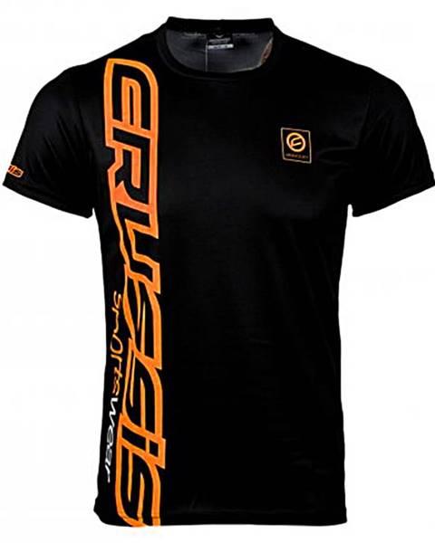 Crussis Pánske tričko s krátkym rukávom CRUSSIS čierno-oranžová čierno-oranžová - S