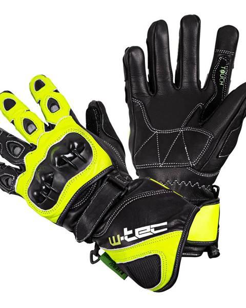 W-Tec Motocyklové rukavice W-TEC Supreme EVO čierno-zelená - S