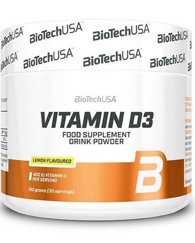 Vitamin D3 práškový - Biotech USA 150 g Lemon