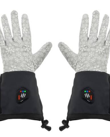 Univerzálne vyhrievané rukavice Glovii GEG čierno-šedá - S-M