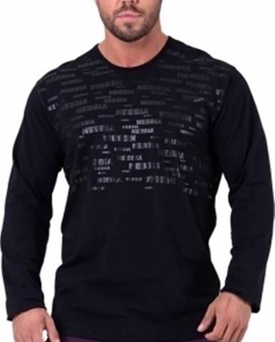Nebbia More than basic! tričko s dlhým rukávom 147 čierne variant: XL