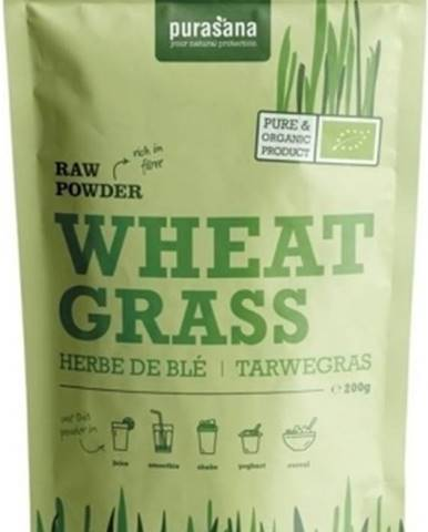 Purasana Wheat Grass Raw Powder (Európsky pôvod) BIO 200 g