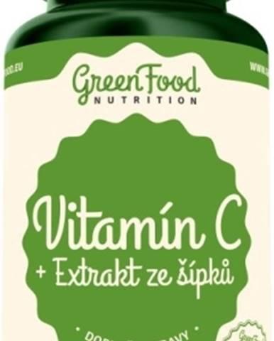 GreenFood Vitamín C + Extrakt zo šípok 120 kapsúl