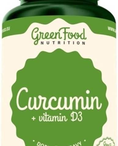 GreenFood Curcumin + vitamín D3 60 kapsúl