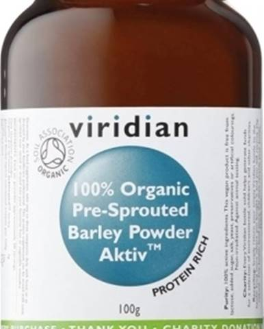 Viridian BIO 100 % Organic Activated Barley Powder 100 g