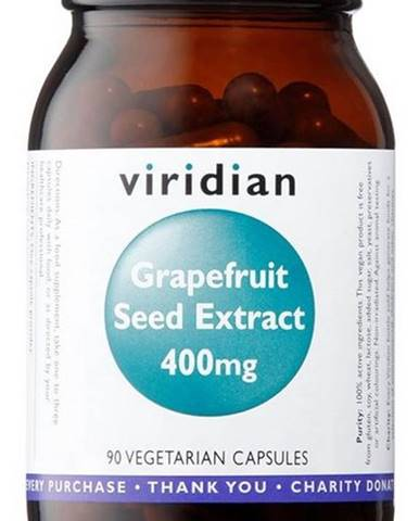 Viridian Grapefruit Seed Extract 400 mg (Extrakt zo semienok Grapefruitu) 90 kapsúl