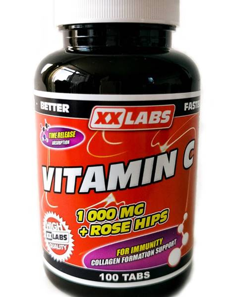 Xxlabs Xxlabs Vitamín C 1000 mg so šípkovým extraktom 100 tabliet