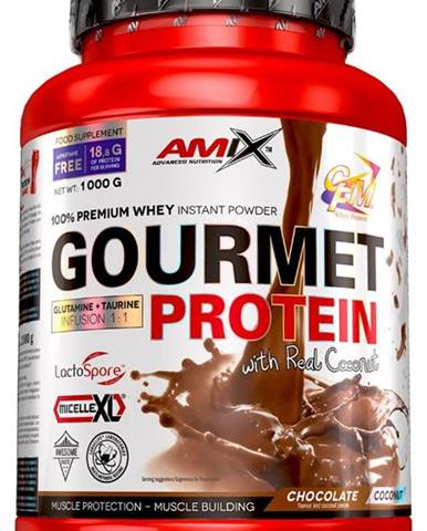 Amix Nutrition Amix Gourmet Protein 1000 g variant: biela čokoláda - jahoda
