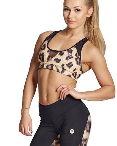 Gym Glamour podprsenka Leopard variant: S