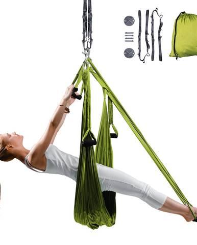 Popruhy na aero jogu inSPORTline Hemmok zelené s držiakmi a lanami