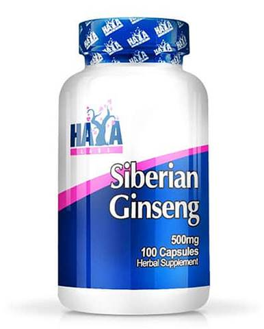 Haya Labs Siberian Ginseng 500mg Hmotnost: 100 kapslí
