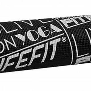 Gymnastická podložka LIFEFIT SLIMFIT, 173x58x0,4cm, černá